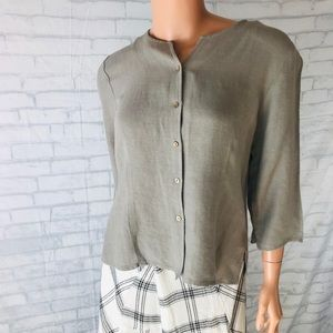 Eileen Fisher Blouse Shirt Size Small Button Up